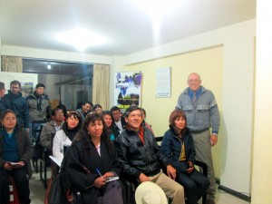 Michael Brown, MSC, LMFT, with the College of Psychologists of Peru, Cusco